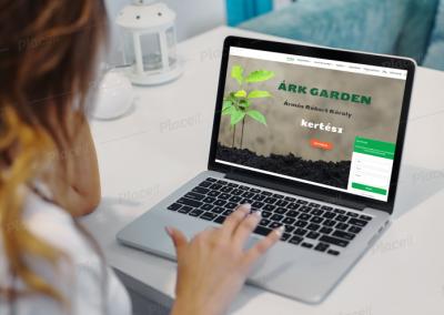 Árk Garden kertészet weboldala
