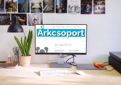 Árk Csoport weboldala