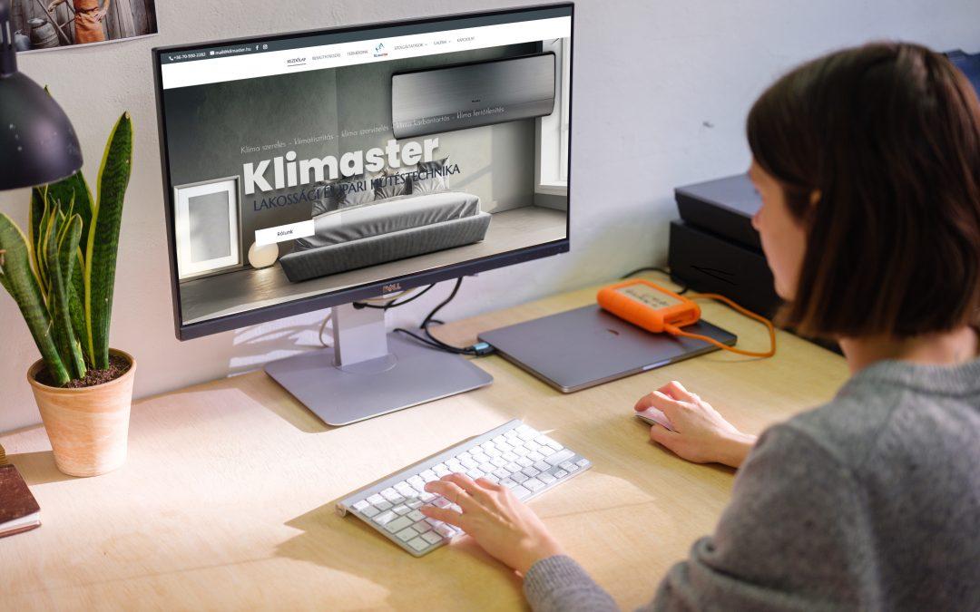 Klimaster weboldala