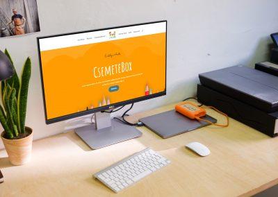 Csemetebox weboldala
